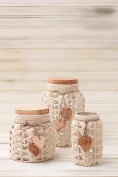 Mason Jar Crafts, Mason Jars, Knitted Tea Cosies, Biscuit, Crochet Designs, Candle Making, Boho Decor, Painted Rocks, Shopping
