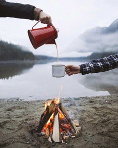 let's adventure together - plaid, fires, a beautiful lake & the mountains...all you need