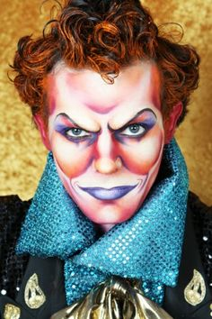 Make up idea for my Great Milenko character. Circus Makeup, Clown Makeup, Fx Makeup, Costume Makeup, Special Makeup, Special Effects Makeup, Movie Makeup, Magical Makeup, Character Makeup