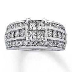 Diamond Engagement Ring 1 3/4 ct tw 14K White Gold $$3,079.30