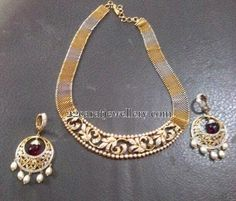 Jewellery Designs: Fancy Diamond Set with Chandbalis