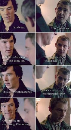 It's a brilliant conversation starter, I do believe I have used it before - not because Sherlock did, but because it's all I could think to say. I'm not exactly great at small talk...haha