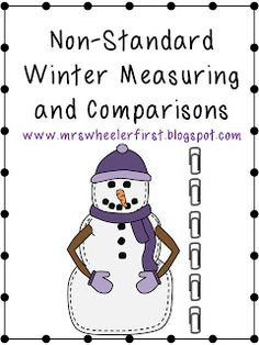 Wheeler's First Grade Tidbits: Non-Standard Measurement & Freebie Measurement Kindergarten, Measurement Activities, Math Measurement, Kindergarten Math Activities, Preschool Math, Math Classroom, Winter Activities, Teaching First Grade, Teaching Math