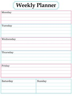 Printable Daily Calendar Forms Printable Daily Schedule Form
