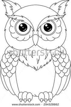 Owl Coloring Page Owl Stencil Owl Coloring Pages Bird Coloring