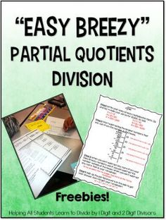 Partial Quotients Printables: Easy Breezy Division {Lots of Freebies} - Teaching to Inspire with Jennifer Findley
