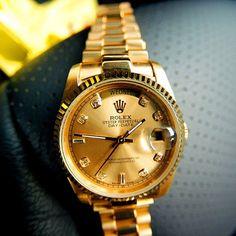 Gold Rolex Day Date President II Watch