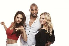 Eliza Taylor, Lindsey Morgan and Ricky Whittle #The100 #SDCC