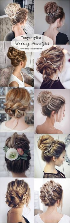 Idée Tendance Coupe & Coiffure Femme 2017/ 2018 :  : Tonyastylist Wedding Updos Hairstyles for Long Hair