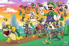 Another Super Mario game, another fanart. Why do I have a feeling this one is gonna have a recurring hat theme? And oh, heeeeey everybody. Long time no fanart. Illustration done in Adobe Photoshop . P: Luigi be like: Get out of my head! Super Mario Games, Super Mario Art, Super Mario World, Mario Y Luigi, Mario Kart, Nintendo Princess, Nintendo World, Paper Mario, Nintendo Characters