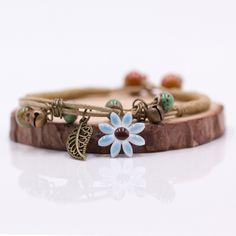 Just in  Handmade Ceramic ... and Flying out the door! http://www.iitrends.com/products/handmade-ceramic-bracelet-charm-bracelet-nature-inspired-bracelet?utm_campaign=social_autopilot&utm_source=pin&utm_medium=pin