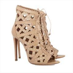 Alaïa - Studded Cutout Leather Sandals