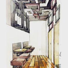 """ถูกใจ 1,508 คน, ความคิดเห็น 8 รายการ - Interiors/Sketches (@tihomirov_sketch) บน Instagram: """"Interior sketching #interiorsketching #interiorsketcher #sketching #artwork #arqsketch #drawing…"""""""