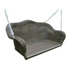 Discover the best wicker porch swings for your outdoor patio. We have plenty of wicker swings and wicker furniture options that you can add to your home and enjoy when the weather is beautiful. Painting Wicker Furniture, Outdoor Wicker Furniture, Wicker Sofa, Rattan, Wicker Porch Swing, Porch Swings, Canopy Swing, Vintage Porch, Swing Design