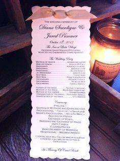Custom Wedding Ceremony Programs - 150 Quantity