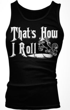 That's How I Roll Junior's Tank Top, Funny Weed Marijuana Joint And Smoke Design Boy Beater (Black, Small)