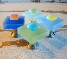 Beach Glass Cabinet Knobs Drawer Pulls Small