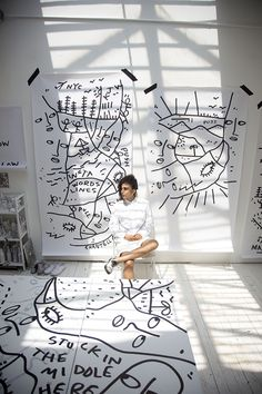 Artist Shantell Martin and Her New Solo Exhibit at Brooklyn MoCADA - Vogue