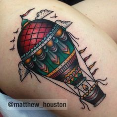 Hot air ballon on chapel thanks for being a super #hotairballoon #traditional #tattoo @salonserpenttattoo