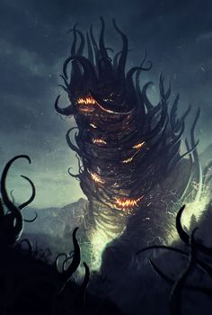 Want to see art related to cthulhu? Scroll through inspiring examples of artwork on DeviantArt and find inspiration from our network of talented artists. Hp Lovecraft, Lovecraft Cthulhu, Fantasy Monster, Monster Art, Dark Fantasy, Fantasy Art, Yog Sothoth, Call Of Cthulhu Rpg, Dragons