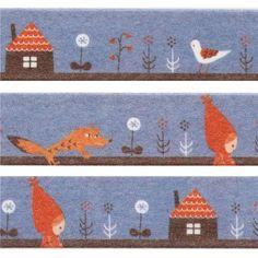 blue Little Red Riding Hood Washi Masking Tape deco tape Shinzi Katoh Japan 1