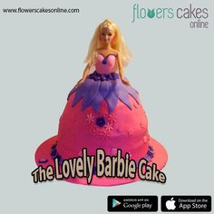 For seeing that beautiful smile on your beautiful daughter's face, just order The Lovely Barbie Cake from #FlowersCakesOnline for her birthday or any other special day. Visit:-