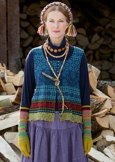 """Sirja"" cotton vest – Muhu Inspiration – GUDRUN SJÖDÉN"