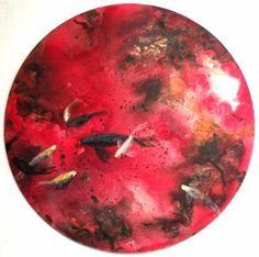 luna rossa con pesci pompeiani