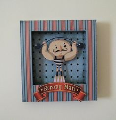 Collage paper shadow box  #SocialCircus