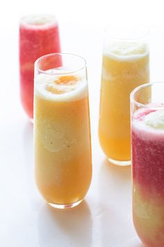Layered Tropical Smoothies | Real Food by Dad @realfoodbydad #breakfast #healthy #recipe