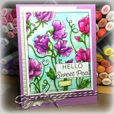 Sweet Pea Show Digital Stamp Set | Power Poppy by Marcella Hawley