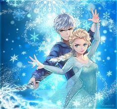 Jack Frost x Elsa - Guardians & Frozen Crossover