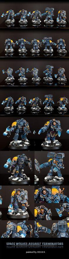 40k - Space Wolves Assault Terminators by Delius