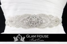 Bridal Sash Crystal Glam Jewels  wedding sash  by GlamHouse, $175.00