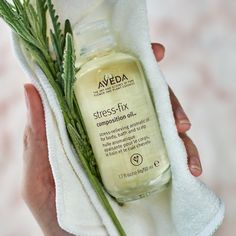 Our Stress-Fix Composition Oil fills your senses with lavender, lavendin and clary sage for an aroma that reduces feelings of stress. Use this nourishing oil for body, bath and scalp with stress-relieving aroma for a calming aromatherapy blend. Natural Stress Relief, Tan Skin, Pure Products, Aveda Products, Beauty Products, Wellness Tips, How To Relieve Stress, Skin Care Tips, Body Care