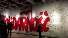 """Solidarnosc"" - thousands little cards.."