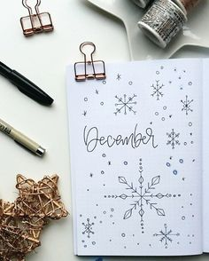"""263 Me gusta, 23 comentarios - BuJo u. Lettering mit Nathalie (@happyliee) en Instagram: """"Let it snow, let it snow, let it snow  When you wake up,its a little bit white outside and your…"""""""