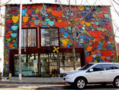 Structure - recycled sheet metal facade