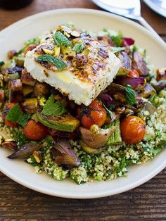 Grilled Vegetable Salad with Feta and Tabbouleh | Kitchen Assassin