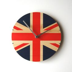 Objectify Union Jack National Flag Clock