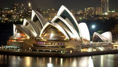 Sydney Opera House is a multi-venue performing arts centre in Sydney, New South Wales, Australia. Situated on Bennelong Point in Sydney Ha. Plaza Hotel, World's Most Beautiful, Beautiful Places, Beautiful Pictures, The Places Youll Go, Places To Go, Beste Hotels, World Cities, Night City
