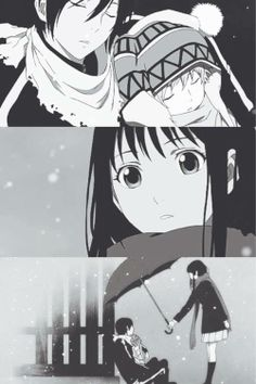 Yato, Yukine and Hiyori. They're such a little family XD