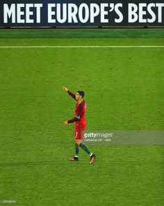 Cristiano Ronaldo of Portugal reacts during the UEFA EURO 2016 Group F match between Portugal and Iceland at Stade Geoffroy-Guichard on June 2016 in Saint-Etienne, France. Cristino Ronaldo, Cristiano Ronaldo Cr7, F Pictures, Photos, Portugal Euro, Portugal Soccer, Uefa Euro 2016, We Are The Champions, Saint Etienne