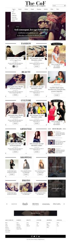 Web site, The Cof - the citizens of fashion