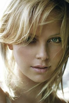 Charlize Theron angelic portrait by the ocean, a modern classic beauty, star of The Devil's Advocate, The Italian Job, and Mad Max: Fury Road. Charlize Theron, Beautiful Celebrities, Beautiful Actresses, Beautiful Eyes, Most Beautiful Women, Woman Face, Pretty Face, Beauty Women, Portrait Photography