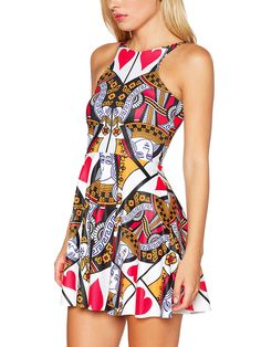 Queen of Hearts Reversible Skater Dress (AU $85AUD / US $68USD) by Black Milk Clothing