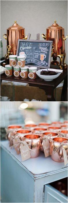 Winter copper wedding ideas #weddingideas #weddingfavors #winterweddings #wedding