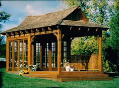 Bali Tea House Gazebo Kits   Backyard & Japanese Teahouse ...
