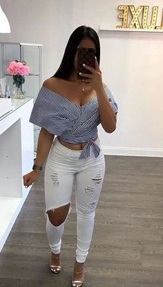 Cute Casual Outfits, Girly Outfits, Chic Outfits, Spring Outfits, Fashion Outfits, Womens Fashion, Denim Fashion, Look Fashion, Fashion Killa