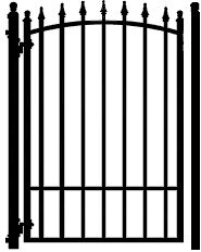 Arrow Garden Gate - The Amazing Gates 3 ft Arrow Garden Gate includes a gravity latch and hinges and matches the Arrow Driveway Gate. House Yard, House Front, Iron Gates Driveway, Wrought Iron Garden Gates, Fence Gate, Gate Design, Pergola Plans, Backyard, Boarders